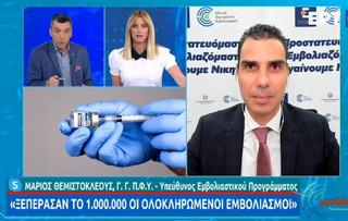 Θεμιστοκλέους: Μέχρι τον Ιούλιο θα έχει το 70% του πληθυσμού
