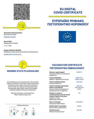 Ευρωπαϊκό ψηφιακό πιστοποιητικό Covid: Από 1η Ιουνίου σε ισχύ – Όλα όσα πρέπει να γνωρίζουμε