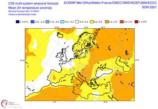 Χάρτες της ΕΜΥ για τη θερμοκρασία το φετινό φθινόπωρο