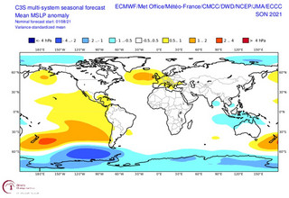 Χάρτης της ΕΜΥ για τις αποκλίσεις της ατμοσφαιρικής πίεσης το φετινό φθινόπωρο