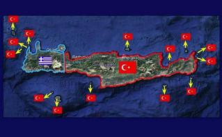 Τουρκικός χάρτης για την κρήτη