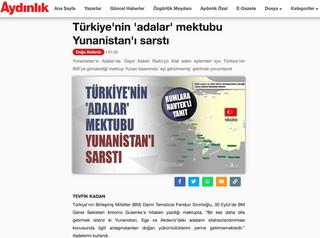 Το δημοσίευμα της τουρκικής εφημερίδας Aydinlik