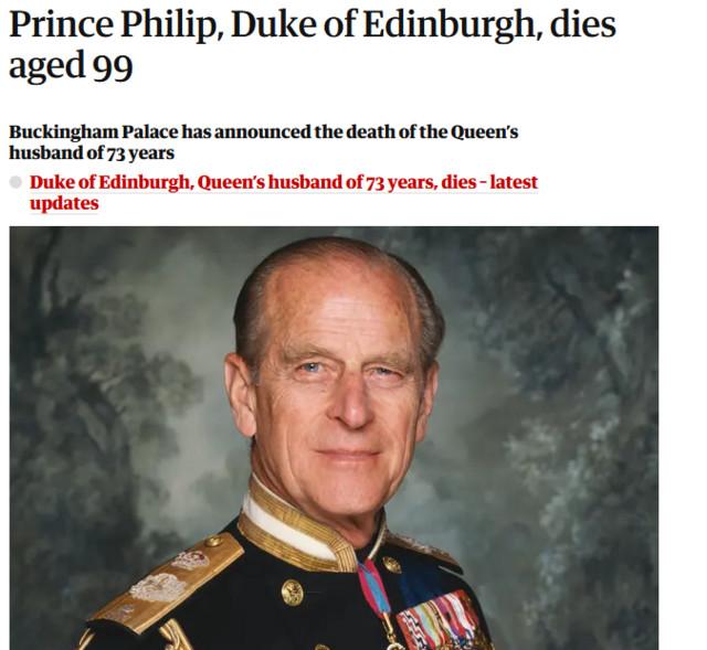 Τι γράφουν τα βρετανικά ΜΜΕ για τον θάνατο του πρίγκιπα Φίλιππου: Τα πρωτοσέλιδα