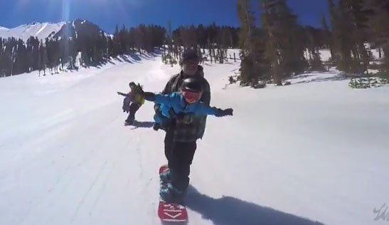 Snowboarding με τα παιδιά